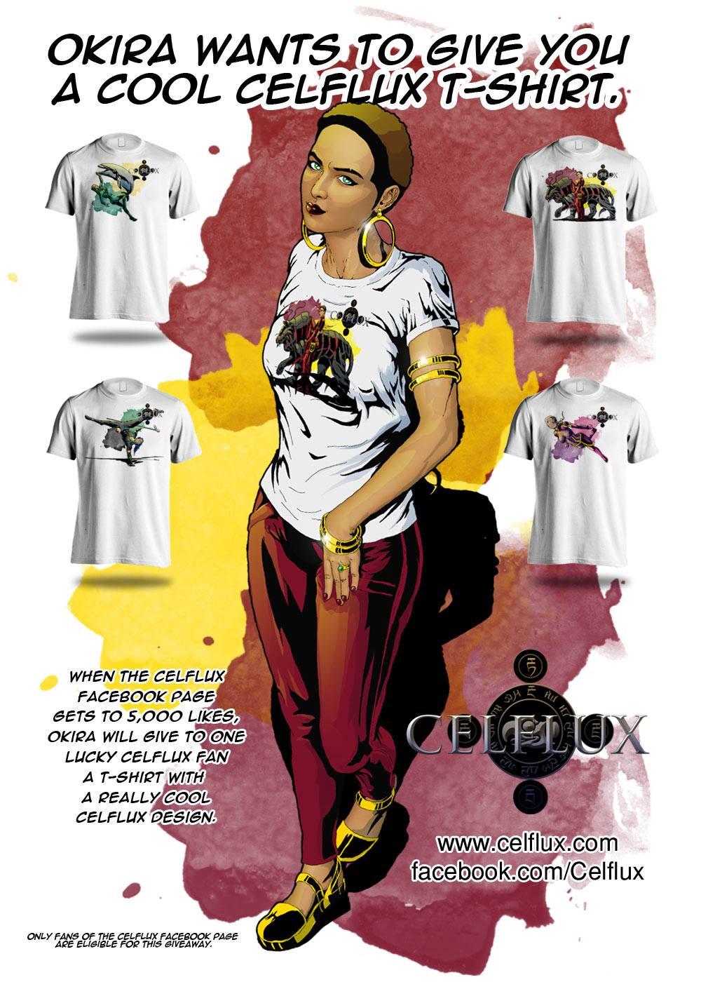Okira's Celflux T-Shirt Giveaway